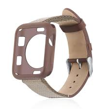real leather band with tpu case for apple watch series 4 3 2 1 wrist strap buckle for iwatch 40mm 44mm 38mm 42mm invicta watch band watch band tool from