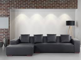 low profile sofa. Image Is Loading Modern-Sectional-Sofa-Low-Profile-Black-Leather-LUNGO- Low Profile Sofa O