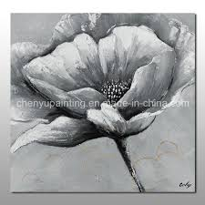 china handmade large white flower oil painting china oil painting flower painting