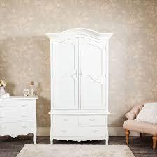 large white double armoire wardrobe with drawer storage jolie range