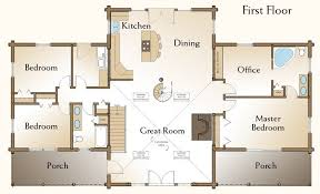 Perfect 3 Bedroom Cabin Plans Log Floor Awesome 4 Home With Loft Best Of Excellent