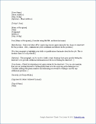 Sample Thank You Letter After Interview Letters Free