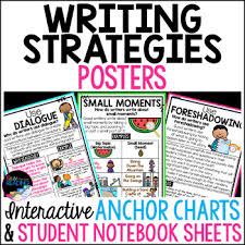 Anchor Charts For Writing Writing Strategies Posters Anchor Charts Writers Notebook Sheets