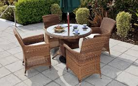 comfortable garden furniture set with wicker rattan dining