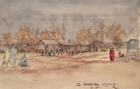 wichita agency indian territory in 1869 vincent colyer gilcrease museum