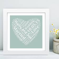 framed wedding heart word cloud ideal personalised keepsake gift for the wedding couple