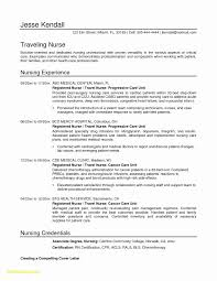 Registered Nurse Resume Samples Valid Nursing Resume Example New New