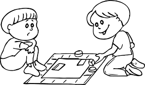 Small Picture Board Game Loss Coloring Page Wecoloringpage