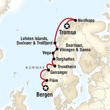 cruise norwegian fjords map 800px