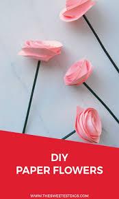 Cardstock Paper Flower The Easiest Diy Paper Flower Tutorial The Sweetest Digs