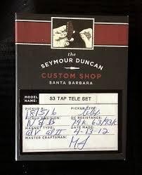 seymour duncan 53 tapped tele set 2013 reverb seymour duncan 53 tapped tele set 2013