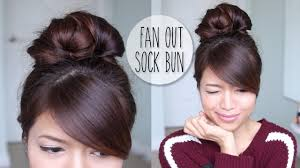 Sock Bun Hair Style Everyday Fan Sock Bun Updo Hairstyle For Long Hair Tutorial Youtube 5554 by wearticles.com
