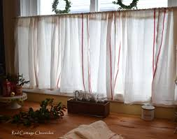 Gingerbread Kitchen Curtains Ikea Dishtowel Hack Red Cottage Chronicles