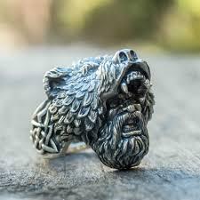 Mens <b>Viking Stainless Steel</b> Ring Silver Good Luck Rune Mjolnir ...