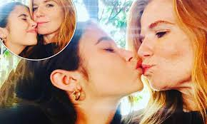 Patsy Palmer, 47, shares a peck on the lips with model daughter Emilia  Merkell, 18 in sweet snaps | Daily Mail Online