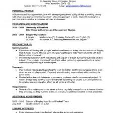 Sample Resume For Part Time Job For Students With No Experience