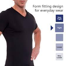 Lish Men S Slimming Light Compression Crew Neck Shirt Lish Lish Mens Slimming Compression Body Shaper