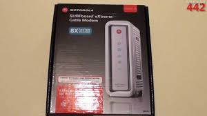 Motorola Sb6141 Lights Motorola Surfboard Sb6141 Docsis 3 0 Cable Modem Overview Unboxing