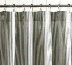 ticking shower curtain black ticking homespun