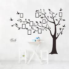 large family photo frame tree bird