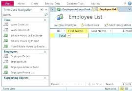 Access Personnel Database Template Excel Database Template Free Employee Database Template In Excel