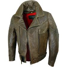 rida tec elite antique brown leather jacket