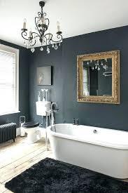 bathroom chandeliers idea black gold mirror and delicate chandelier in dark ideas decorating for small bathrooms
