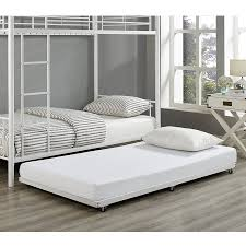 White Twin Roll Out Trundle Bed Frame Walmart