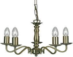 oaks lighting nadoor 5 light ceiling light antique brass 8230 5 ab