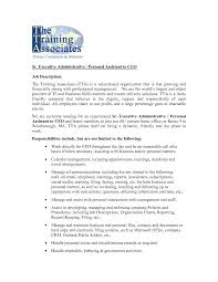 Personal Assistant Job Description For Resume Best Photos Of Administrative Assistant Job Description 74