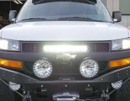 Van Light Bars Chevrolet Express Grill Led Bar Mount