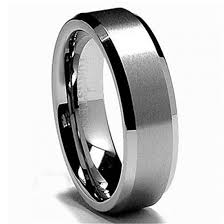 Tungsten Carbide Ring Size Chart Mens 6mm Tungsten Carbide Ring Wedding Band Matte Brushed