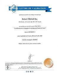 Welding Cwb Aws Asme Robert Mitchell Inc Montreal