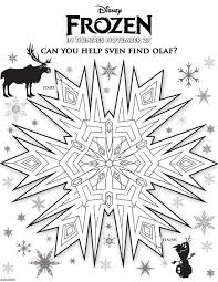 Free Disney Frozen Coloring Sheets And