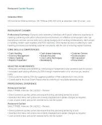 Resume Examples For Restaurant Jobs Wikirian Com