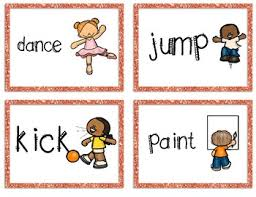 Verb Action Action Verb Charades Game Cards