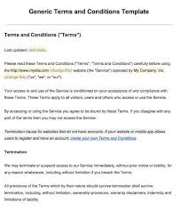 exle of terms and conditions screenshot