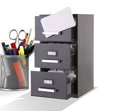 Amazon.com : Mini File Cabinet Business Card Holder 3-Drawer : Office  Products