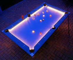cool pool table lights.  Cool While Itu0027s Not Quite As Awesome A Submerged Pool Table This Outdoor Pool  Table Features Neat Trick Armed With Builtin LEDs That Allow It To  In Cool Lights