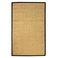adirondack sisal black 3 ft x 5 ft area rug