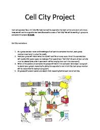 Cell City Analogy Examples Cell City Project Worksheets Teachers Pay Teachers