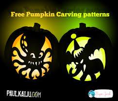 Elephant Pumpkin Carving Pattern Unique Free Pumpkin Carving Patterns By Paulkaiju Superjunk SuperJunk