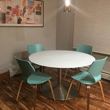 aria dining table and soren chairs