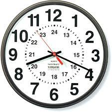 24 hour wall clock nsn3428199 24 outdoor wall clock 24 inch wall clock canada