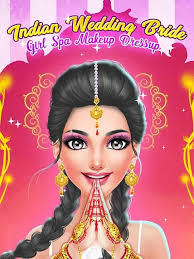 indian wedding and bride game spa