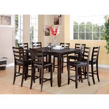 Brown Leather Dining Room Chairs Dining Furniture Tables Vintage Tall Dining Table Design And