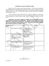 Leave Of Absence Sample Forms And Letters 00046025 6 Family