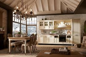 Vintage italian barcelona style dining Origami Shelves View In Gallery Chandelier Lighting And Dining Space Complement The Kitchen Style Forbes Exclusive Italian Kitchen With Modern Comfort And Vintage Elegance