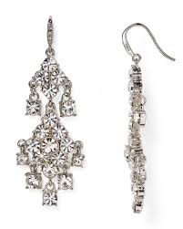 ee women s metallic pavé chandelier earrings