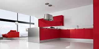 italian kitchen furniture. Awesome Design Italian Kitchen Cabinets Metal Base Red White Color Glossy Top Laminating Ceramic Flooring Stainless Steel Lamp Huge Corner Furniture
